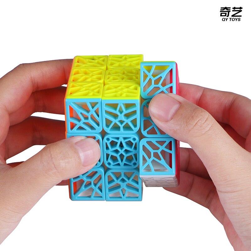 Nouveau QiYi DNA avion 3x3x3 magique Puzzle Cube professionnel sans colle vitesse Cubo Magico 3x3 jouets pour enfants cadeau