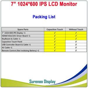 "Image 3 - 7 ""1024*600 IPS LCD מודול צג תצוגה + HDMI/VGA/2AV לוח + מגע קיבולי פנל w/USB בקר עבור Windows & אנדרואיד"