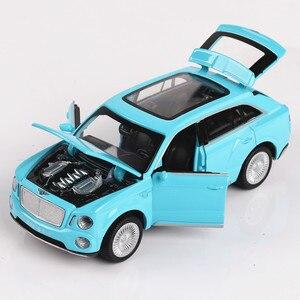 Huang Chen Toys 1:32 Bentley модель автомобиля из сплава, игрушка, автомобильный прицеп, звуковой свет, открытые двери, детские игрушки, игрушки для маль...