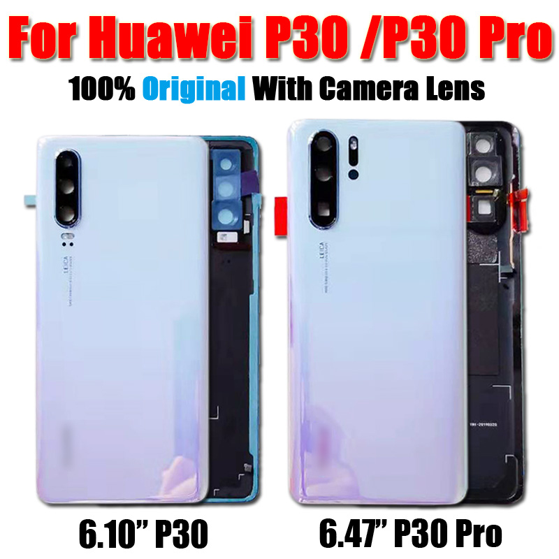 Original Glass Back <font><b>Battery</b></font> Glass <font><b>Cover</b></font> with Lens Replacement For <font><b>Huawei</b></font> <font><b>P30</b></font> Pro P30pro Rear Housing Chassis Door Back Cases image