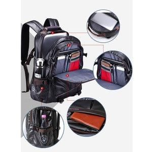 Image 5 - Novo homem mochila para 15.6 polegadas portátil, grande capacidade estudante mochila estilo casual saco repelente de água unisex bagagem & sacos