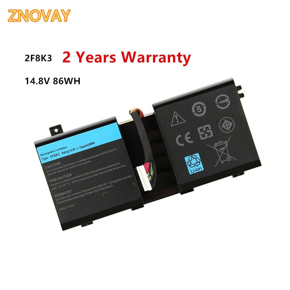 2F8K3 Laptop Battery For Dell Alienware 17 17X 18 18X M18X M17X ALW18D-1788 0KJ2PX 14.8V 86Wh