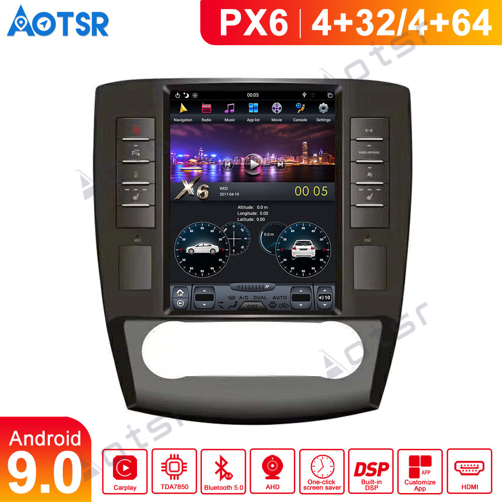 Android 9 Tesla style Car GPS Navi multimedia For <font><b>Mercedes</b></font> Benz <font><b>R230</b></font> <font><b>SL</b></font> SL500 2001-2007 auto stereo radio tape No DVD head unit image