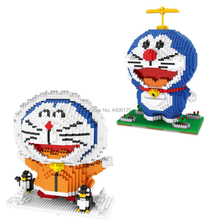 hot LegoINGlys creators Classic japan cartoon image doraemon cat robot mini micro diamond building block model bricks toys gift