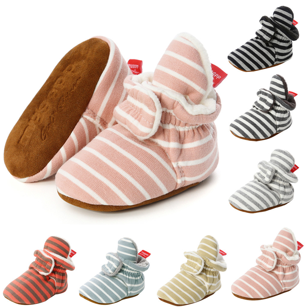 Winter Unisex Newborn Baby Shoes Girls Winter Anti-slip Boots First Walkers Soft Soled Infant Toddler Kids Girl Footwear Sneaker