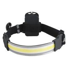 Налобный фонарь BORUiT с монолитным блоком светодиодов, головной водонепроницаемый уличный фонарь с 3 режимами работы, питание от батарейки AAA,...