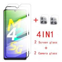 Protector de pantalla de cristal para Samsung Galaxy M42 5G 2021, película protectora de seguridad para cámara, para Samsung A32 A52 A72 A42