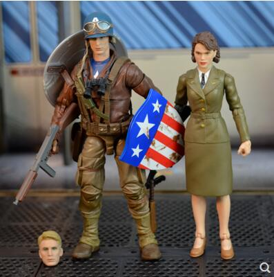 """Marvel Legends 80th ANNI World War 2 WWII Captain America Peggy Carter 6"""" Action Figure"""