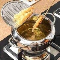 Marmite de cuisine Thermometre Tempura friteuse casserole ustensiles de cuisine outils frits contrôle de la température Pot de poulet 3