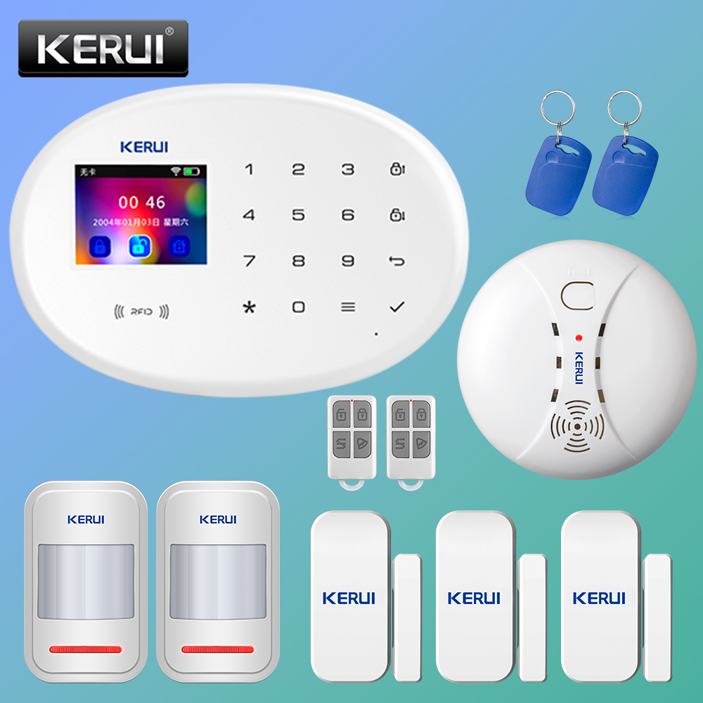KERUI W20 Smart Alarm System Sicherheit Home Alarm Residencial WiFi GSM Wireless 2,4 zoll Touch Panel Einbrecher Alarm System