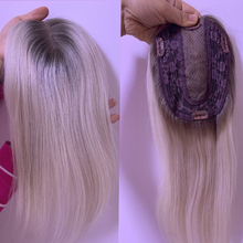 Hair-Extension Toupee Hairpiece Natural Blonde Lace Human Women Straight with Clips-Quality