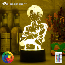 Table-Lamp Light Ackerman-Figure Gift Attack Acrylic On Titan Home-Room-Decor Anime Captain-Levi