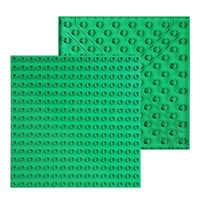 256 duplie grandes tijolos placa base 16*16 pontos duplo lado baseplate blocos de construção brinquedos para crianças presente compatível duplo oco