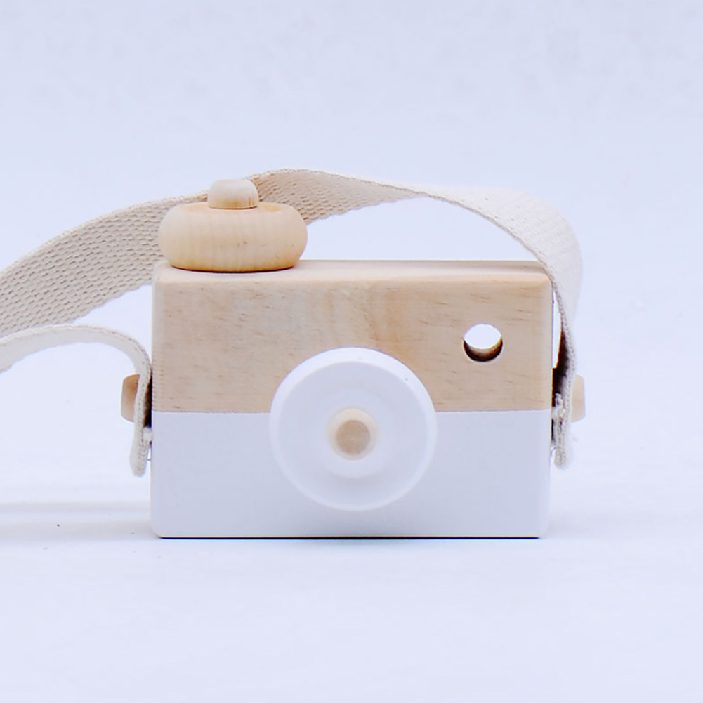 Cute Handcraft Kids Wooden Camera Birthday Gifts Photography Props Decoration Eco-friendly Toy Children