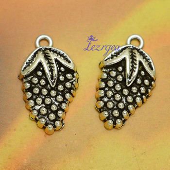 30pcs/lot--21x12mm, Antique silver plated Strawberry charms,DIY supplies,Jewelry accessories