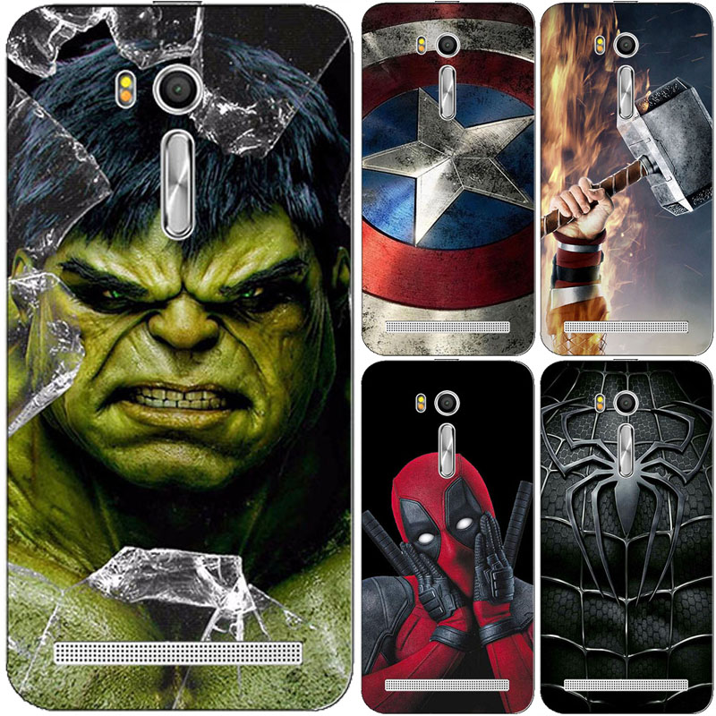 Superhero Phone Case Cover for Asus Zenfone Go ZB552KL TV ZB551KL G550KL ZB500kl ZB500KG ZB452KG ZB450KL Superman Back Cover(China)