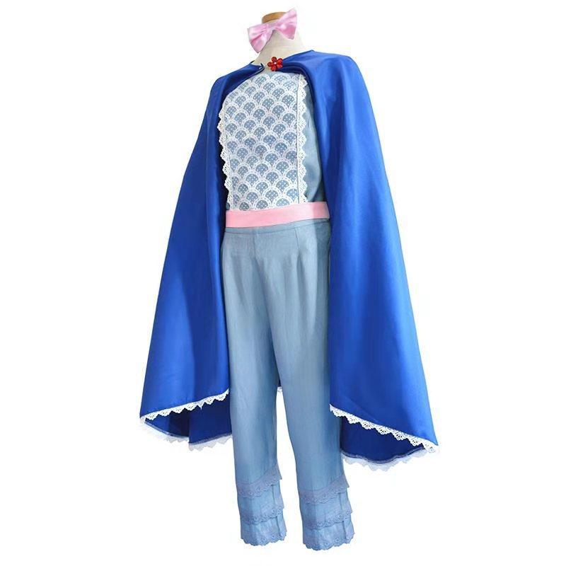Toy Story 4 Bo Peep Cosplay Costume Uniforme Déguisement Cape Halloween femmes