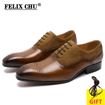 Big Size 13 Mens Oxford Shoes Genuine Leather Men Dress Shoes Suede Casual Pointed Toe Formal Business Male Wedding Suit Shoes