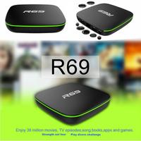 R69 Android 7.1 Caixa de TV Inteligente 1 + 8G HD Quad Core 2.4GHz WiFi 4K Media Player suporte para 1080P HD filme 3D|Receptor de TV para carro|   -