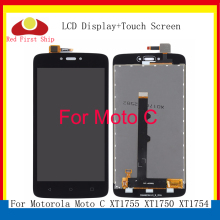 10Pcs/lot LCD For Motorola Moto C LCD Display Touch Screen Digitizer Assembly For Motorola Moto C Display XT1750 XT1755 XT1754 5pcs lot for motorola moto x3 play xt1562 lcd display touch screen digitizer assembly black white free dhl