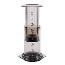 Portable Coffee Maker Press Pot Filter Machine Paper Kitchen Set Black