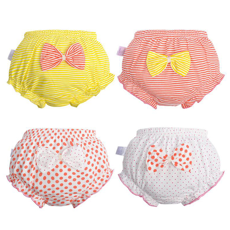 1Pc New bow Baby Cotton Underwear Panties Girls Cute Underpants Shorts Summer Shorts 0-7 years old girl children high quality