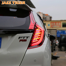 Rear Fog Lamp + Brake Light + Reverse Light + Turn Signal Light Car LED Tail Light Taillight For Honda Fit Jazz GK5 2014 - 2018