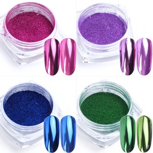 Image 5 - 0.5g Specchio Chiodo della Polvere di Scintillio di Colore Metallico Unghie Artistiche Gel Lucidatura del Bicromato di potassio Fiocchi di Pigmento di Polvere Decorazioni Manicure TRC/ASX 1