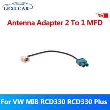 LEXUCAR 2 To 1 MFD Car Radio  Antenna Adapter For VW MIB RCD330 RCD330G RCD330 Plus mfd myflydream v5 0 version 12ch automatic antenna tracker aat fpv system mfd innovation the original best ever automatic uav
