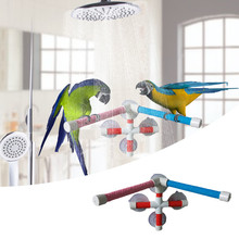 Parrot Claw Beak Grinding Bar Birds Shower Standing Stick Wooden Bar for Climbing and Biting Pet Toy Perches Stand Platform(China)
