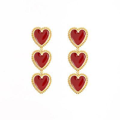 Korea Sweet Heart Earrings...
