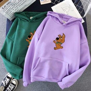 Oversized Cute Dog Print Sweatshirt Kawaii Hoodies for Women Top Clothes Hoody Female Itself Winter Womens Full Sleeve Hoodie