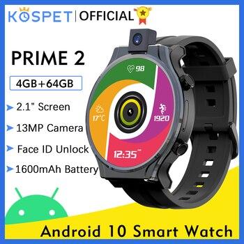 "KOSPET PRIME 2 4G Smart Watch Men 4GB 64GB 13MP Camera 1600mAh 2.1"" Android 10  Watch Phone WIFI GPS Smartwatch 2021 For Xiaomi 1"