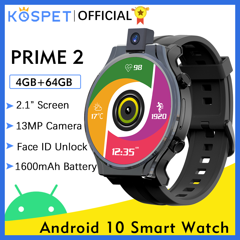 Permalink to KOSPET PRIME 2 4G Smart Watch Men 4GB 64GB 13MP Camera 1600mAh 2.1″ Android 10  Watch Phone WIFI GPS Smartwatch 2020 For Xiaomi