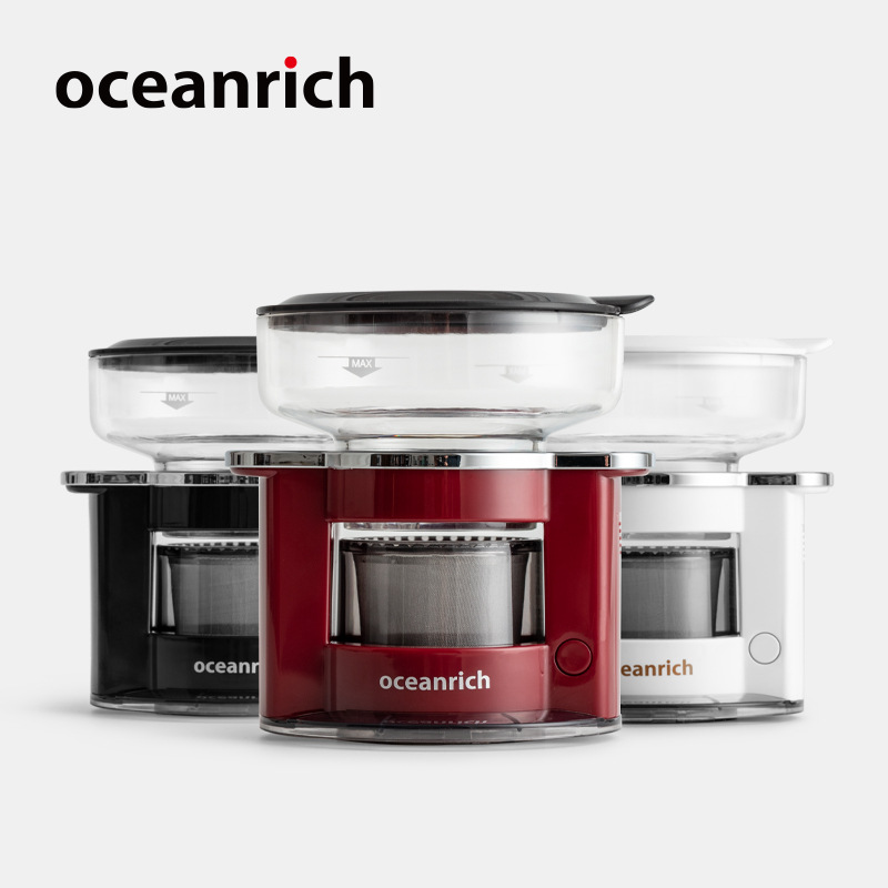 OCEANRICH S2 Automatic Single Serve Pour-over Portable Coffee Maker Coffee Dripper Reuseable Stainless Steel Coffee Pot Machine