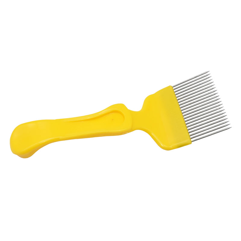 1pcs Good Quality 21 Pin Stainless Steel Tines Comb Uncapping Fork Scratcher Honey Cutter Cut Honey Bee Beekeeping Tools