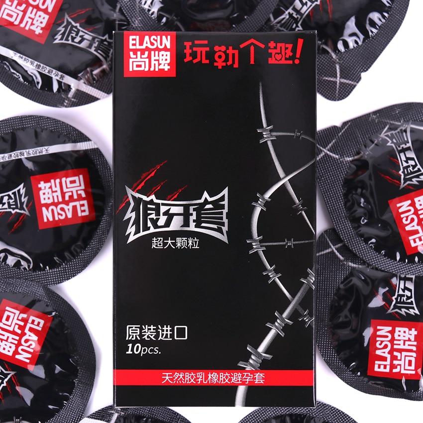 10 PCS/Box G Point Stimulation Condom Pleasure Lubrication Passion Series Erotic Condoms Big Particle Penis Sleeve