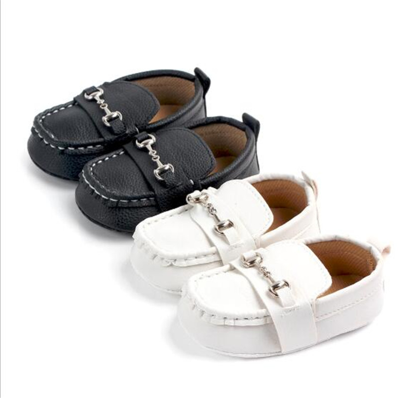 New Baby Shoes Infant PU First Walkers Antislip Newborn Boys Crib Shoes Kids Casual Shoes
