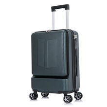 Boarding Suitcase Trolley Trunk Pocket-Rolling-Luggage Travel-Bag Women 24inch Password-Box