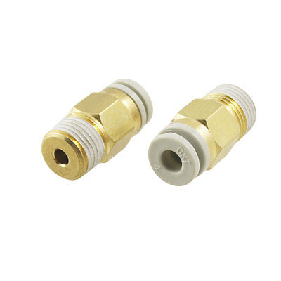 "10 Pcs 1/8"" PT Male Thread to 4mm Tube Push in Connect Straight Fitting