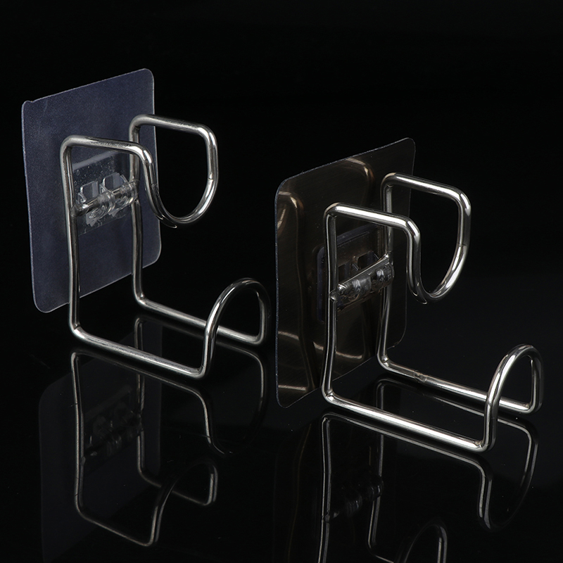 Stainless Steel Wall Hook Wash Basin Holder Kitchen Bathroom Wall Mounted Strong Adhesive Hook Door Sticky Hanger Holder