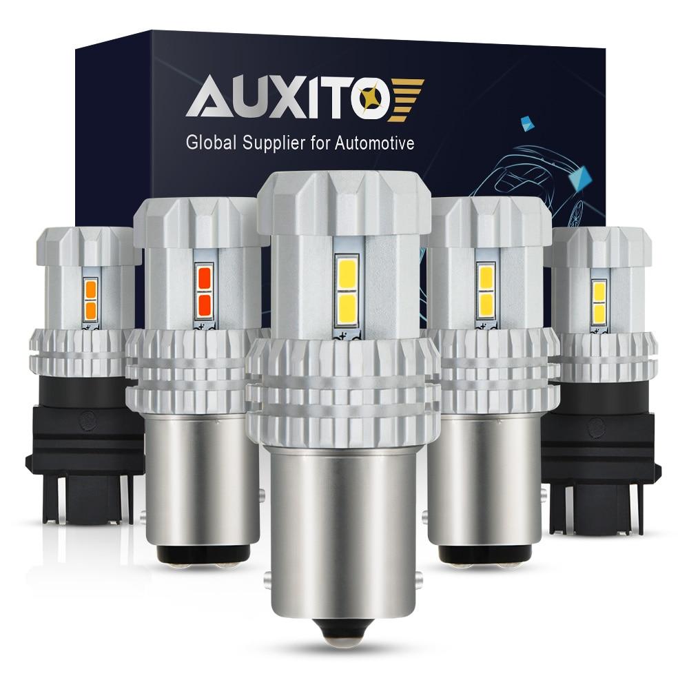 AUXITO 1400LM BA15S 1156 P21W светодиодный автомобильный фонарь заднего хода 7443 W21/5W 7440 WY21W 1157 BAY15D 3157 светодиодный сигнал поворота, стоп-сигналы