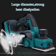 18V  Rechargeable Electric Planer With Wrench Cordless Hand Tool Suitable Makita 18V Battery Woodworking Cutting Power15000rpm