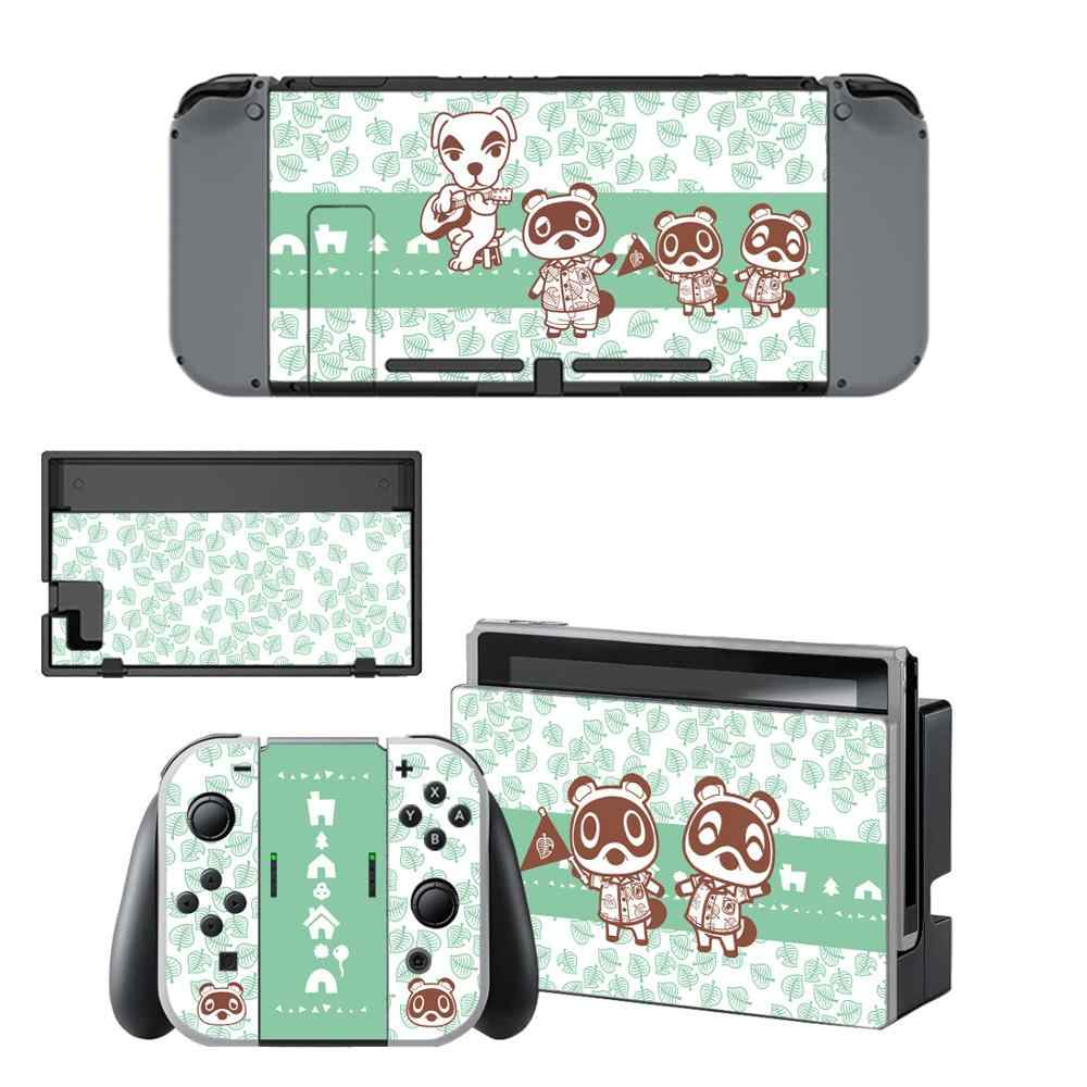 Vinyl Screen Skin Animal Crossing Protector Stickers for Nintendo Switch NS Console + Controller + Stand Holder Joy-con Skins
