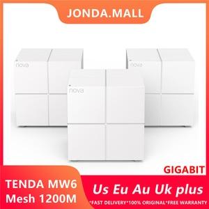 Tenda MW6 Nova Беспроводной Wi-Fi маршрутизатор гигабитный маршрутизатор 11AC двухдиапазонный 2,4 ГГц/5,0 ггц Wifi ретранслятор сетка Wifi система приложен...