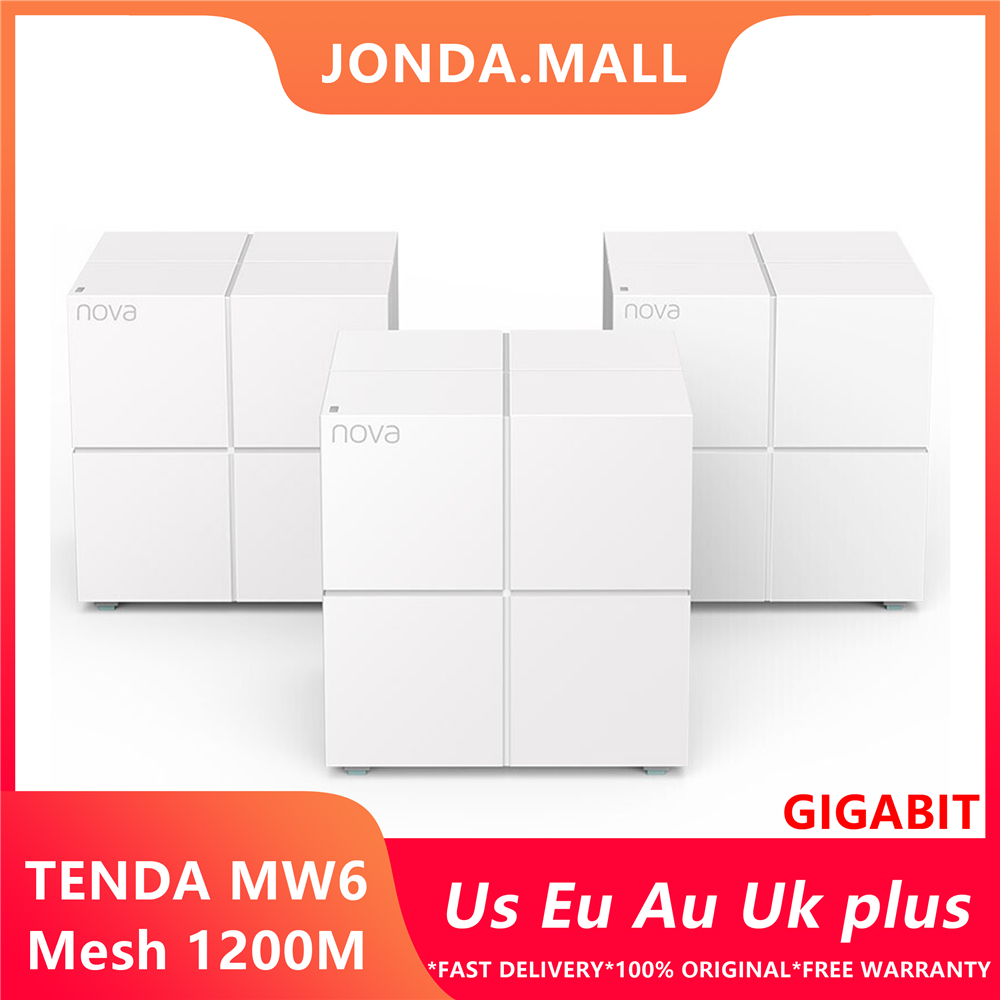 Tenda MW6 Nova Wireless Wifi Router Gigabit Router 11AC Dual Band 2.4Ghz/5.0Ghz Wifi Repeater Mesh WiFi System APP Remote Manage