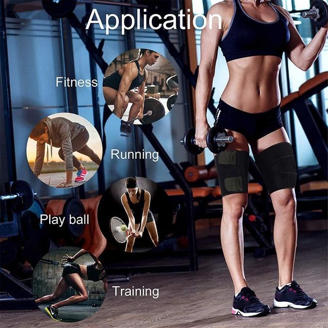 Unisex Women Men Legwarmers Sweat Thigh Trimmer Sportswear Accessories Leg Slimmer Gym Home Fitness Thigh Slimmer Legs Belt 4