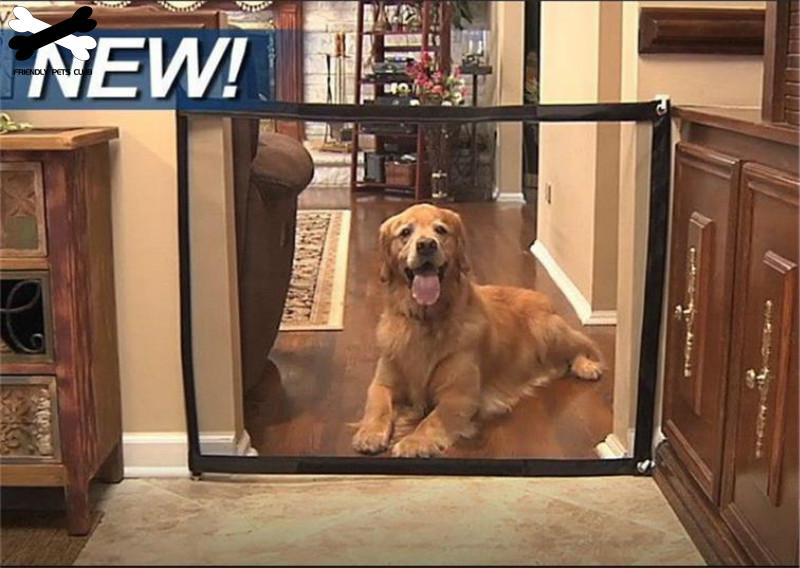 Portable and Folding Dog Gate and Mesh pet Fence for Dog Safety Indoor and Outdoor 5