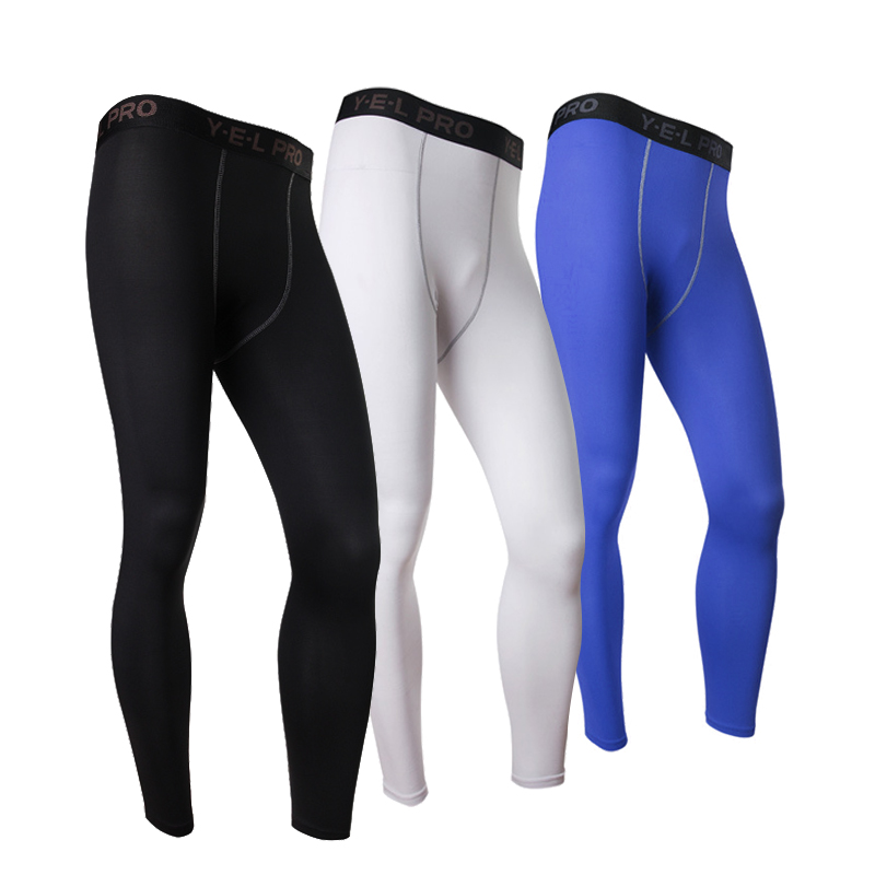 Men Elastic Quick Dry Trousers Men Compression Tights Pantalones Athletic Train Leggings Fitness Gym Sports Running Pants in Running Pants from Sports Entertainment