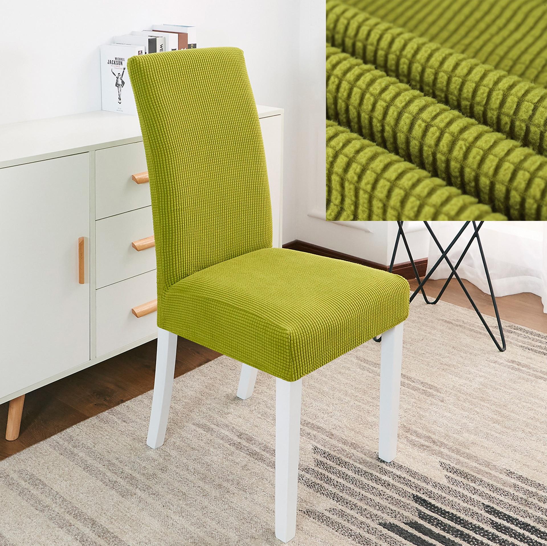 Новинка 2019 клетчатые флисовые утолщенные чехлы на стулья для столовой, растягивающиеся чехлы для сидений, защитный чехол для стула для ресторана basen ogrodowy Чехлы на стулья      АлиЭкспресс